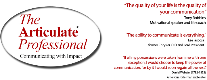 The Articulate Professional - communicating with impact through vocabulary enhancing